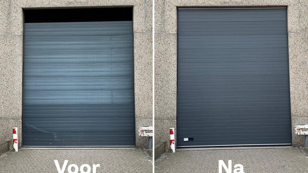 Resultaat van een nieuwe overheaddeur
